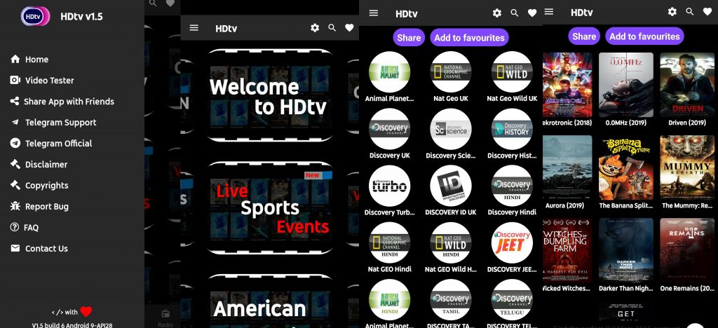 HDtv Android  1.5