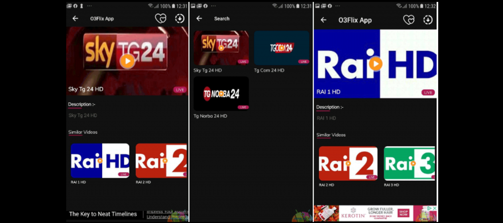 O3Flix App Movies TV series and TV in Italian on APK[Latest] 1